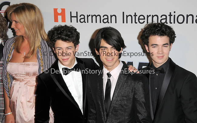Penny Lancaster,Nick Jonas,Joe Jonas & Kevin Jonas at The Clive Davis / Recording Academy Annual Pre- Grammy Party held at The Beverly Hilton Hotel in Beverly Hills, California on February 07,2009                                                                     Copyright 2009 Debbie VanStory/RockinExposures