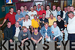 DINNER: Members of the Greyhound Bar Golf Society enjoying the craic at captain Johnny Conways prizegiving night in The Greyhound bar on Saturday night. Johnny from Shanakill is sitting centre in yellow..