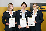 Underwater Hockey Girls Finalists. ASB College Sport Young Sportsperson of the Year Awards 2006, held at Eden Park on Thursday 16th of November 2006.<br />