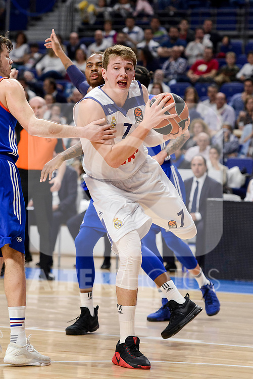 Real Madrid's Luka Doncic during Turkish Airlines Euroleague match between Real Madrid and Anadolu Efes at Wizink Center in Madrid, April 07, 2017. Spain.<br /> (ALTERPHOTOS/BorjaB.Hojas)