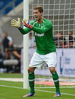 FUSSBALL  1. BUNDESLIGA  SAISON 2012/2013  2. SPIELTAG    01.09.2012 TSG 1899 Hoffenheim  - Eintracht Frankfurt Torwart Kevin Trapp (Eintracht Frankfurt)