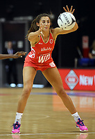 03.09.2017 England's Beth Cobden in action during the Quad Series netball match between England and South Africa at the ILT Stadium Southland in Invercargill. Mandatory Photo Credit ©Michael Bradley.