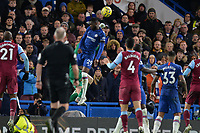 David Martin of West Ham United `punches a cross  during Chelsea vs West Ham United, Premier League Football at Stamford Bridge on 30th November 2019