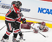 Maddie Hartman (NU - 27), Meghan Grieves (BC - 17) - The Boston College Eagles defeated the Northeastern University Huskies 5-1 (EN) in their NCAA Quarterfinal on Saturday, March 12, 2016, at Kelley Rink in Conte Forum in Boston, Massachusetts.