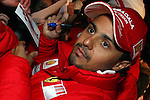 &copy; PIERRE TEYSSOT 15-01-2009 / Ferrari's Brazilian driver Felipe Massa signing autographs during a meeting with the fans at the &quot;Wrooom,<br />  F1 and MotoGP Press Ski Meeting&quot; Ducati and Ferrari annual media gathering in Madonna di Campiglio on January 15, 2009. <br /> Former world champion Kimi Raikkonen claimed today that he doesn't feel his place at Ferrari is under threat from Renault's Fernando Alonso / TRENTINO / ITALIE / ITALY /