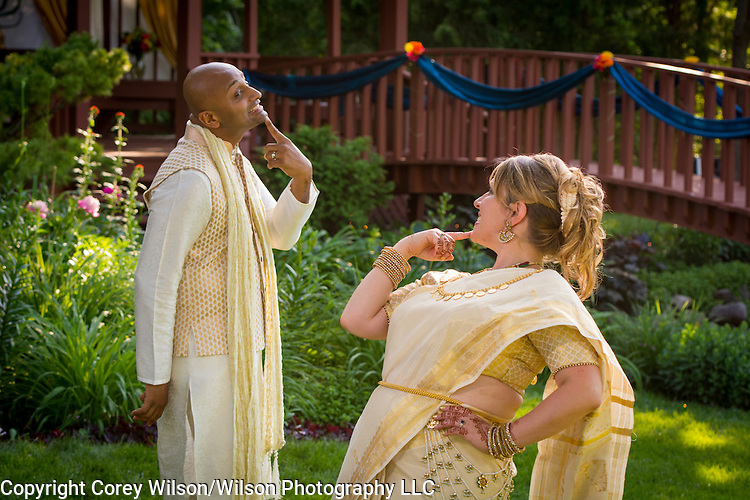Jodee Cherney & Vinay Krishnan wedding at the bride's parents' home in Bellevue, Wis., on June 18, 2016.