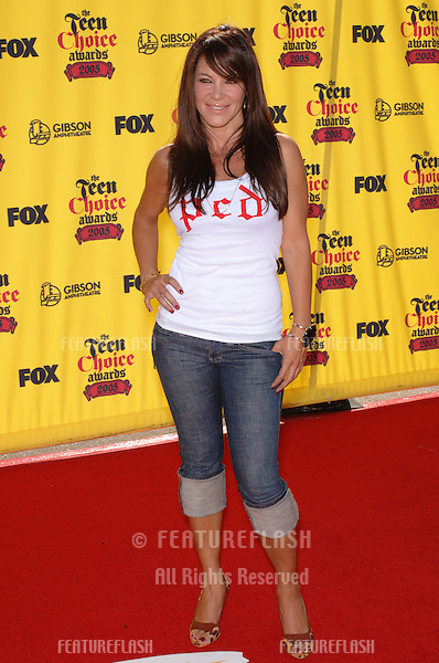 ROBIN ANTON at the 2005 Teen Choice Awards at the Universal Amphiteatre, Hollywood..August 14, 2005  Los Angeles, CA.© 2005 Paul Smith / Featureflash