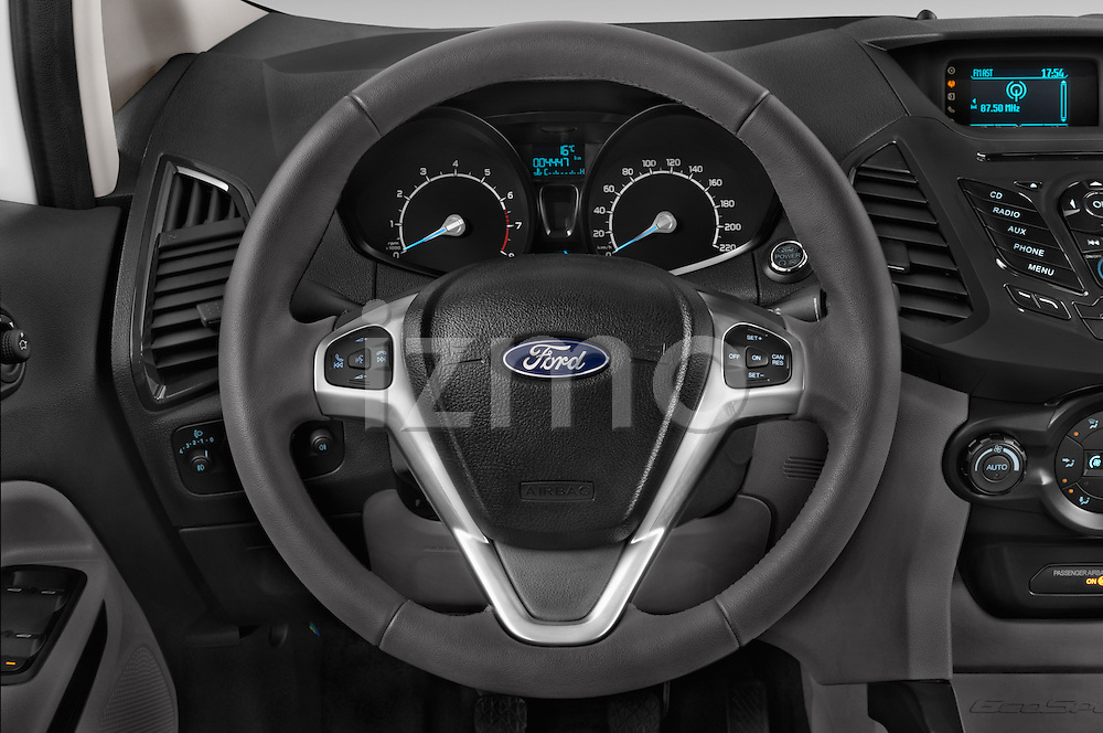 Car pictures of steering wheel view of a 2015 Ford ECOSPORT TITANIUM 5 Door SUV Steering Wheel