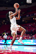 College Park, MD - NOV 16, 2016: Maryland Terrapins guard Kaila Charles (3) goes up for a lay up during game between Maryland and Maryland Eastern Shore Lady Hawks at XFINITY Center in College Park, MD. The Terps defeated the Lady Hawks 106-61. (Photo by Phil Peters/Media Images International)