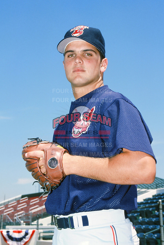 Jaret Wright of the Kinston Indians poses for a photo before the Carolina League versus California League All Star Game during the 1996 season at The Epicenter in Rancho Cucamonga, California. (Larry Goren/Four Seam Images)