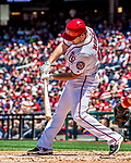 9 July 2017: Washington Nationals All-Star second baseman Daniel Murphy in action against the Atlanta Braves at Nationals Park in Washington, DC. The Nationals defeated the Atlanta Braves to split their 4-game series going into the All-Star break. Mandatory Credit: Ed Wolfstein Photo *** RAW (NEF) Image File Available ***
