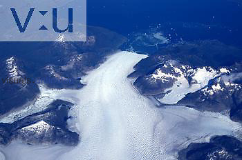 Glacier in Northern Lakes District, Chile, South America