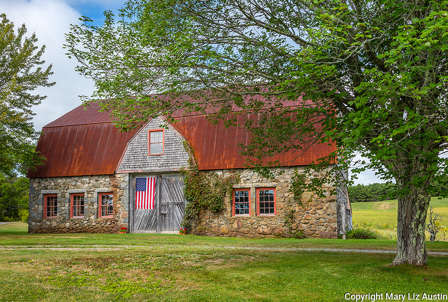 Bar Harbor, Maine: Historic Stone Barn Farm (1820)