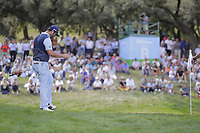 Jon Rahm (ESP) on the 8th during the second round of the Mutuactivos Open de Espana, Club de Campo Villa de Madrid, Madrid, Madrid, Spain. 04/10/2019.<br /> Picture Hugo Alcalde / Golffile.ie<br /> <br /> All photo usage must carry mandatory copyright credit (© Golffile | Hugo Alcalde)