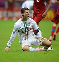 FUSSBALL  EUROPAMEISTERSCHAFT 2012   VIERTELFINALE Tschechien - Portugal              21.06.2012 Cristiano Ronaldo (Portugal)