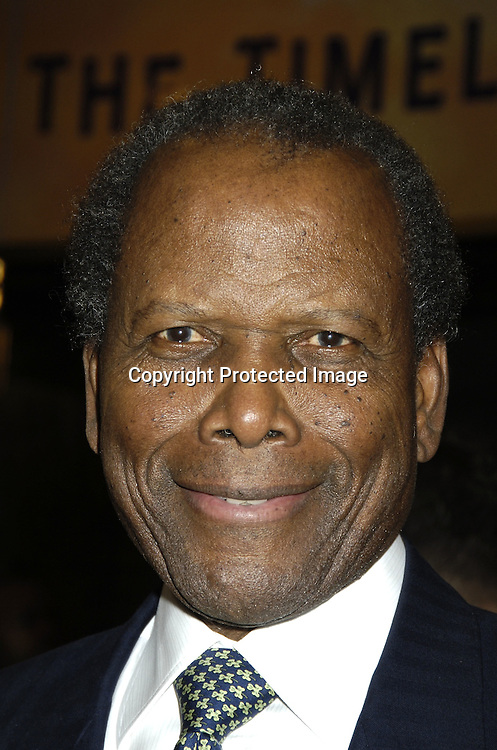 "Sidney Poitier ..arriving at the Broadway opening of ""The Color Purple"" ..produced by Oprah Winfrey on December 1, 2005 ..at The Broadway Theatre...Photo by Robin Platzer, Twin Images"