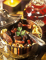 Gastronomie Générale/Repas de Réveillon: Sanglier de sept heures, tagliatelles au foie gras