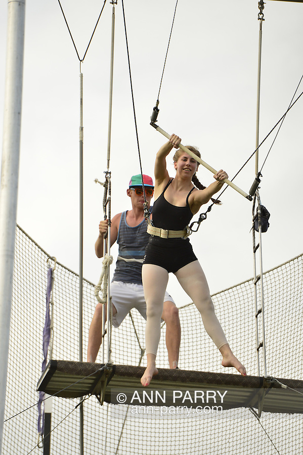 East Meadow, New York, U.S.  27th June 2013. I Fly trapeze at Eisenhower Park.