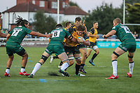 Jordy Reid of Ealing Trailfinders during the Greene King IPA Championship match between Ealing Trailfinders and London Irish Rugby Football Club  at Castle Bar, West Ealing, England  on 1 September 2018. Photo by David Horn.