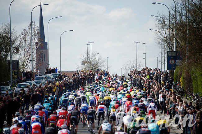 amazing crowds all along the route <br /> <br /> 99th Ronde van Vlaanderen 2015