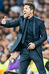 Coach Diego Simeone of Atletico de Madrid reacts during their 2016-17 UEFA Champions League Semifinals 1st leg match between Real Madrid and Atletico de Madrid at the Estadio Santiago Bernabeu on 02 May 2017 in Madrid, Spain. Photo by Diego Gonzalez Souto / Power Sport Images