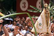 Imagem de Nossa Senhora de Nazare ap&oacute;s a romaria fluvial,  A festa religiosa que acontece a mais de 200 anos chega a trazer anualmente a cidade de Belem,  mais de 1.500.000 pessoas que participam da procissao que acontece durante o segundo domingo de outubro com milheres de pagadores de promessa <br />Bel&eacute;m Par&aacute; Brasil<br />11/10/2003<br />&copy;Foto: Paulo Santos/Interfoto