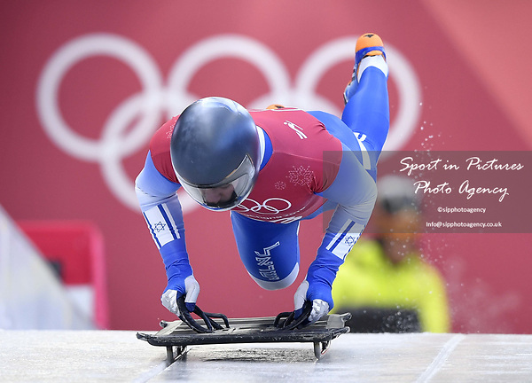 Adam Edelman (ISR). Skeleton training. Alpensia sliding centrePyeongchang2018 winter Olympics. Alpensia. Republic of Korea. 13/02/2018. ~ MANDATORY CREDIT Garry Bowden/SIPPA - NO UNAUTHORISED USE - +44 7837 394578