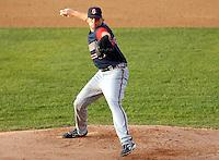 Gwinnett Braves RHP Tommy Hanson at McCoy Stadium in Pawtucket, RI 4-30-09 (Photo by Ken Babbitt/Four Seam Images)