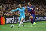 UEFA Champions League 2019/2020.<br /> Matchday 4.<br /> FC Barcelona vs SK Slavia Praha: 0-0.<br /> Petr Sevcik vs Antoine Griezmann.