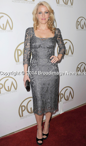 Pictured: Gillian Anderson<br /> Mandatory Credit &copy; Adhemar Sburlati/Broadimage<br /> The 25th Annual Producers Guild of America Awards<br /> <br /> 1/19/14, Los Angeles, California, United States of America<br /> <br /> Broadimage Newswire<br /> Los Angeles 1+  (310) 301-1027<br /> New York      1+  (646) 827-9134<br /> sales@broadimage.com<br /> http://www.broadimage.com