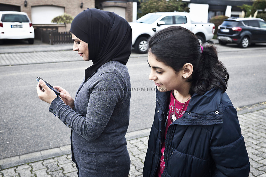 GERMANY, Pulheim: Bayan and her mother can walk freely in the streets of Pulheim without being worried of harassment such like in Cairo.