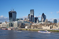 City of London view including the Gherkin, London.