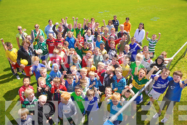 The boys and staff from Scoil Mhuire Boys NS pictured here on Friday last at their school sports day which was held in The Con Keating Park, Cahersiveen.
