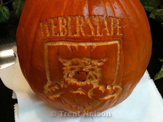 . Friday, October 30 2009.weber state pumpkin