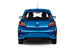Straight rear view of 2020 Mitsubishi Space-Star IN 5 Door Hatchback Rear View  stock images