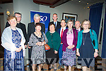 At the 50 year celebration diner of Sr. Consilio and Cuan Mhuire  at the Meadowland Hotel on Thursday were front  l-r Mary Carney, Josephine Gormley, Mary Falvey, Margaret O'Sullivan, Sarah Daly  Back l-r Dacid Hogan, Frank Trainer, Alex Goosdel, Chris Hilton, Michael Griffin