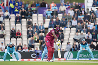 Chris Gayle (West Indies) is beaten outside off from a delivery from Chris Wakes (England) during England vs West Indies, ICC World Cup Cricket at the Hampshire Bowl on 14th June 2019