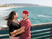 Mike Sosa and Lizet Hernandez engagement shoot at Redondo Beach Pier in Redondo Beach, Calif., on Wednesday, March 31, 2010.