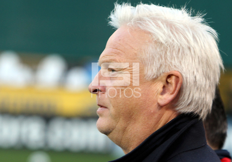 Hans Backe, coach of the New York Red Bulls during an MLS match against D.C. United at RFK Stadium, in Washington D.C. on April 21 2011. Red Bulls won 4-0.