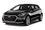 2015 Hyundai I30 Turbo 5 Door Hatchback angular front stock photos of front three quarter view