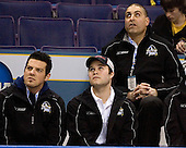 Andrew Gallant (Manhattanville College - Summerside, PEI), T.J. Hensick (University of Michigan - Howell, MI) and unknown - The Hobey Baker Memorial Award ceremony was held at center ice on Friday, April 6, 2007, at the Scottrade Center in St. Louis, Missouri.