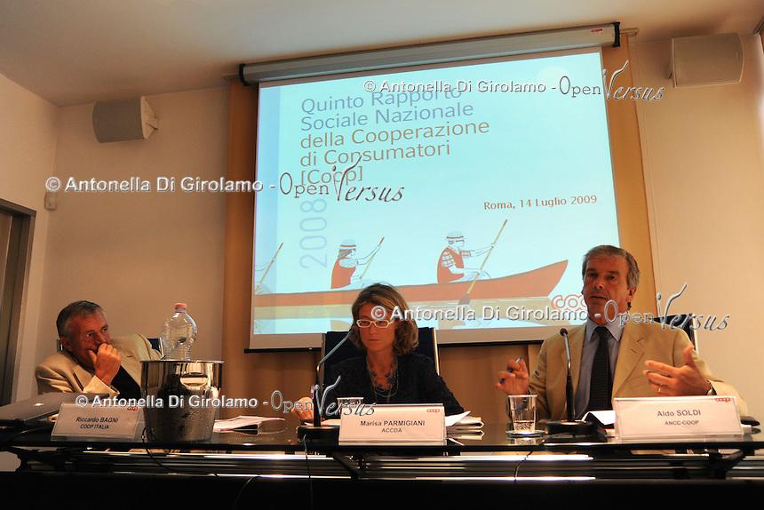 Quinto Rapporto Sociale Nazionale della Cooperazione di Consumatori. COOP.Aldo Soldi. Presidente di Ancc.....
