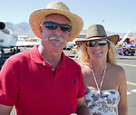 Steve Fisher and Regina McDonald at the Air Races at the Reno-Stead Airfield on Sunday, Sept. 20, 2015.