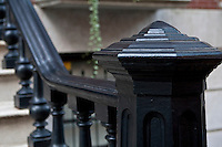 Federalist Iron railing is pictured on a Brooklyn Heights building in the New York City borough of Brooklyn, NY, Monday August 1, 2011.