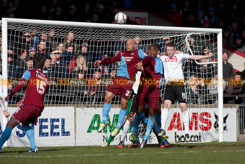 Leon McSweeney (Leyton Orient). - Scunthorpe United vs Leyton Orient - NPower League One Football at Glanford Park - 29/03/13 - MANDATORY CREDIT: Mark Hodsman/TGSPHOTO - Self billing applies where appropriate - 0845 094 6026 - contact@tgsphoto.co.uk - NO UNPAID USE.