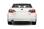 Straight rear view of a 2015 Subaru Legacy 2.5i Premium 4 Door Sedan Rear View  stock images