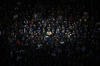 The Leeds United crowd<br /> <br /> Photographer Dave Howarth/CameraSport<br /> <br /> The EFL Sky Bet Championship - Preston North End v Leeds United - Tuesday 22nd October 2019 - Deepdale Stadium - Preston<br /> <br /> World Copyright © 2019 CameraSport. All rights reserved. 43 Linden Ave. Countesthorpe. Leicester. England. LE8 5PG - Tel: +44 (0) 116 277 4147 - admin@camerasport.com - www.camerasport.com