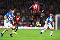 Joshua King of AFC Bournemouth does a mid air heel flick during AFC Bournemouth vs Huddersfield Town, Premier League Football at the Vitality Stadium on 4th December 2018