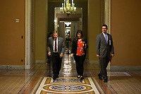 United States Senator Johnny Isakson (Republican of Georgia) walks near the US Senate Chamber in the US Capitol in Washington, DC on Friday, December 1, 2017. Credit: Alex Edelman / CNP /MediaPunch
