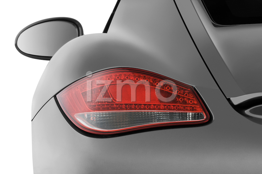 Tail light close up detail view of a 2009 Porsche Cayman S